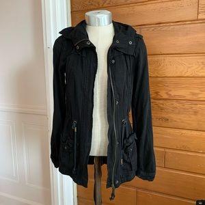 Black Lightweight Jacket with Hood